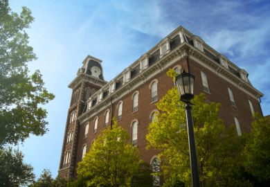 Old Main on the University of Arkansas campus