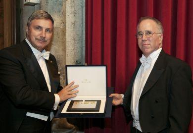 Professor Gene Grossman of Princeton University receiving Onassis Prize for International Trade