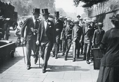 Men in top hats