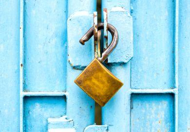 An opened padlock, symbolising open access