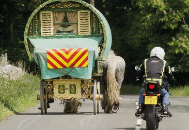 Overtaking horse and caravan