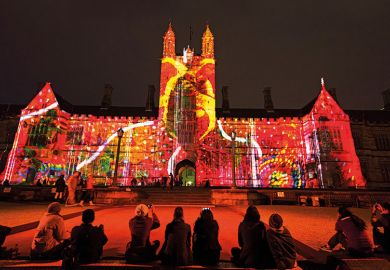 University of Sydney campus during Vivid Sydney Festival