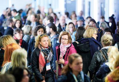 Crowd of attendees at EAIE Helsinki 2019