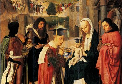 Painting of biblical scene edited