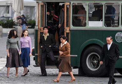 Napoli set TV series, A genial friend, based on a novel by Elena Ferrante