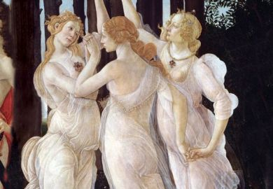 Three Graces from Primavera by Sandro Botticelli