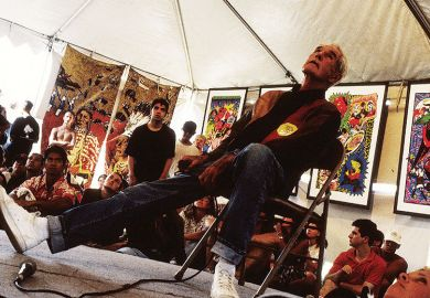 Timothy Leary at Lollapalooza 1993