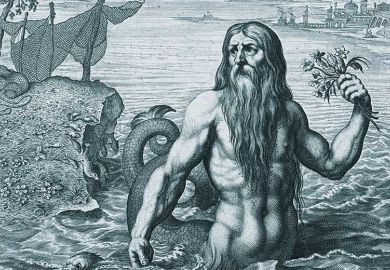 Painting of Glaucus sea god