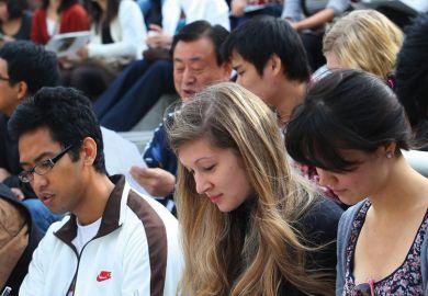 Participants at Korean-language essay contest, Yonsei University
