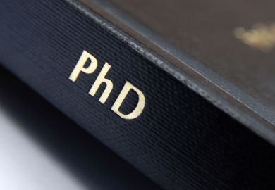 PhD lettered on book spine