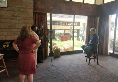 Film crew in Nairobi
