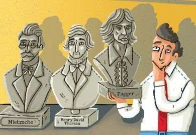 Illustration: Nietszche, Thoreau and Jagger