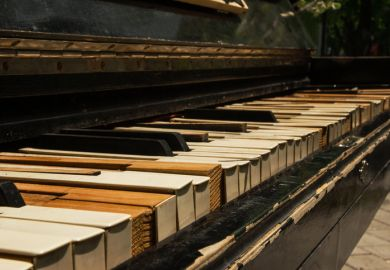 a broken old piano