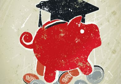 A piggy bank wearing a mortar board