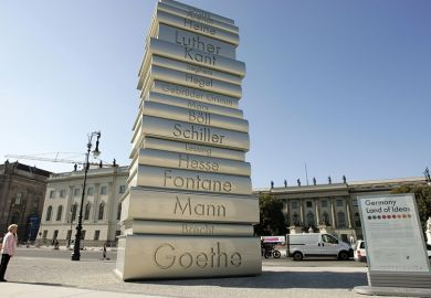A pile of books in Berlin