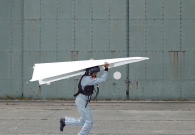 Giant paper plane
