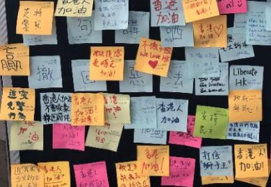 Democracy Wall Hong Kong Polytechnic University independence messages
