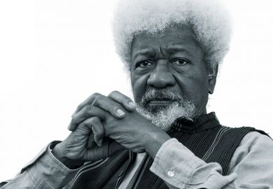 Portrait photograph of Wole Soyinka