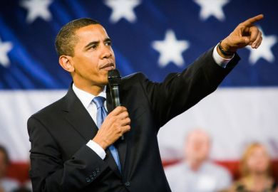 President Barack Obama taking questions from audience