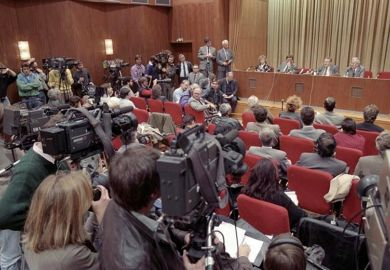Press conference that led to the fall of the Berlin Wall
