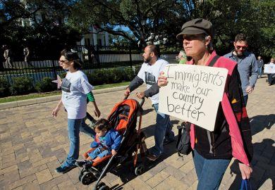 Pro-immigrant demonstrators