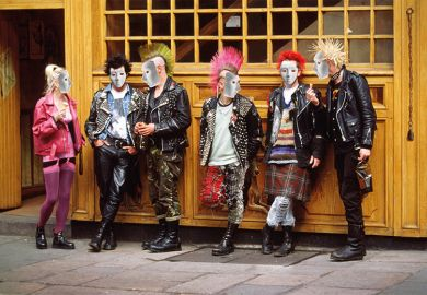 Punks wearing masks