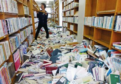 library after earthquake