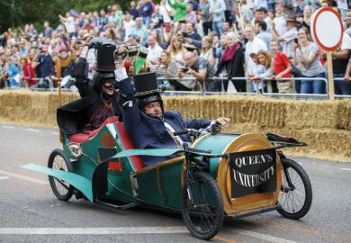 Queen's University takes part in Red Bull Soapbox Race, London