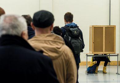 Queue of voters