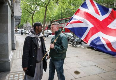 Radical Islamists and British far-right groups clash, High Commission of India, London