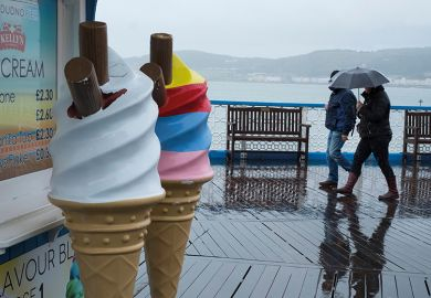 ice cream in the rain