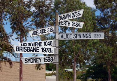 Signpost in regional Australia