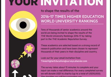 World reputation rankings invitation