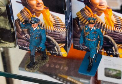 Riva del Garda, Italy - May 17, 2012 Soldiers toy of the nazi third reich of Germany in a display window of a toy shop.
