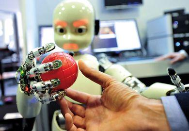 robot ball hand ai