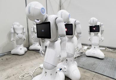sleeping robots