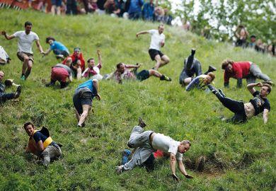 falling down hill