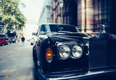 Rolls-Royce on street