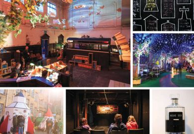 Rooms festival collage of exhibits