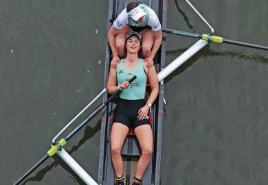 Two female rowers