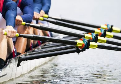 Rowing team as a metaphor for teamwork in science, the arts and research
