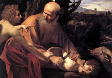 Sacrifice of Isaac, by Caravaggio (1603)