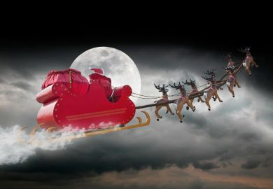 Santa and rudolph christmas