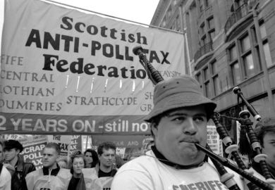Scottish anti-poll tax demonstration