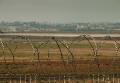 Security Fence at the border of the Gaza Strip