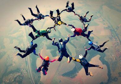 skydiving team collaboration cross-discipline