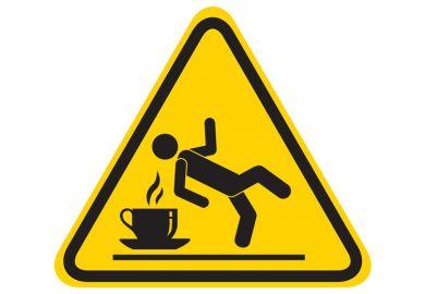 Slip hazard warning sign