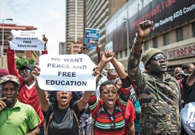 South Africa free education protest