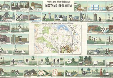 Soviet map