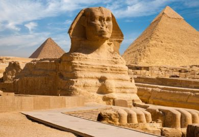 sphinx pyramid Giza Egypt